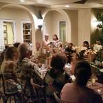 Club President Cathy Jahelka and member Kathy Spilos begin the meeting.